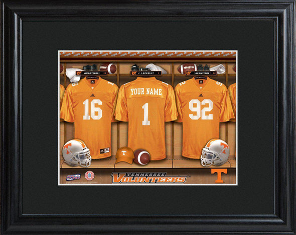 Personalized College Locker Room Sign w/Matted Frame - Tennessee - JDS