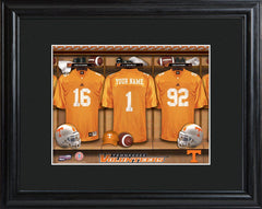 Personalized College Locker Room Sign w/Matted Frame - Tennessee