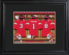 Personalized College Locker Room Sign w/Matted Frame - Utah