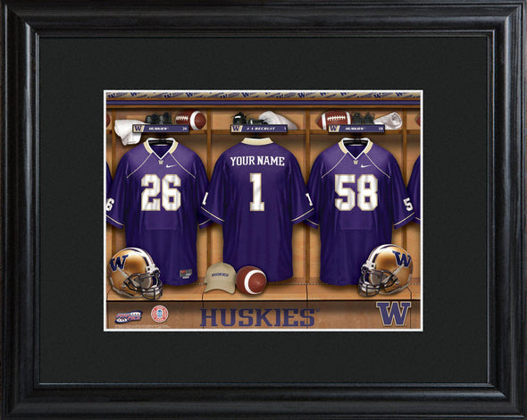 Personalized College Locker Room Sign w/Matted Frame - Washington - JDS