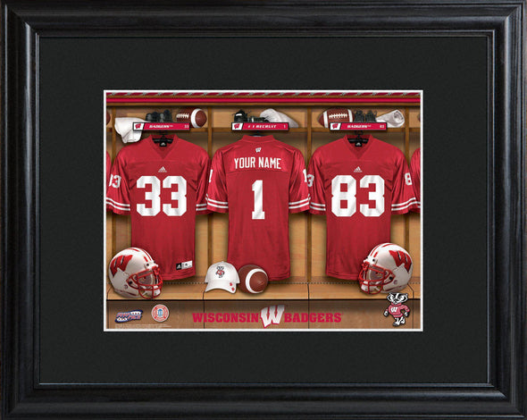 Personalized College Locker Room Sign w/Matted Frame - Wisconsin - JDS