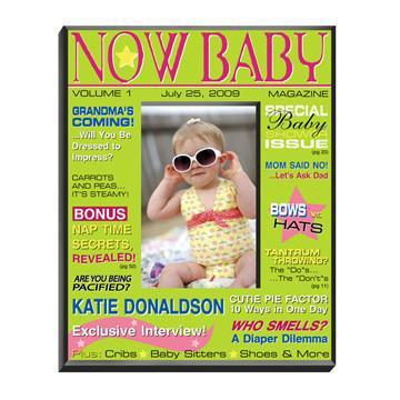Personalized Baby Girl Magazine Picture Frame
