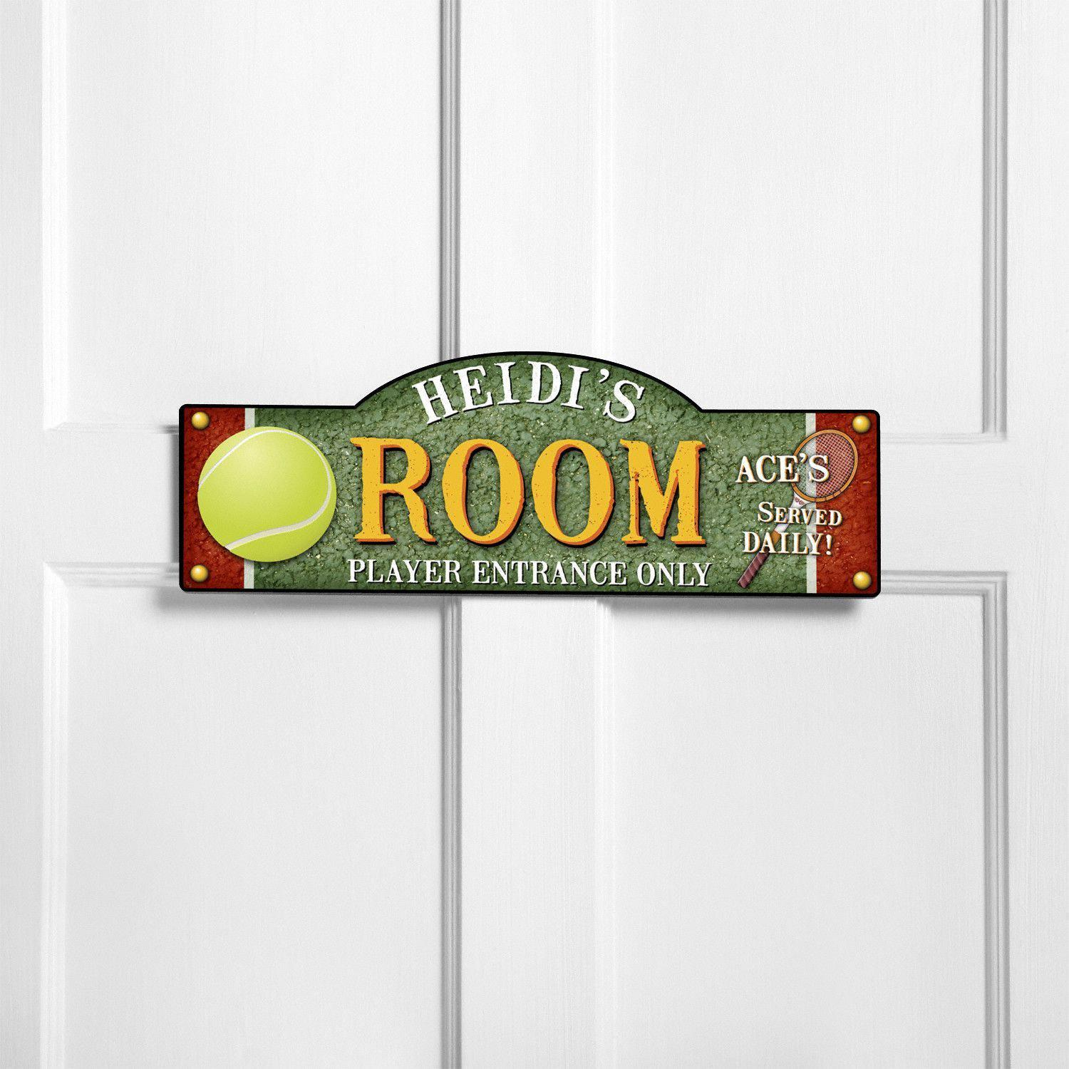 Personalized boys and sports themed room signs for Kids room signs
