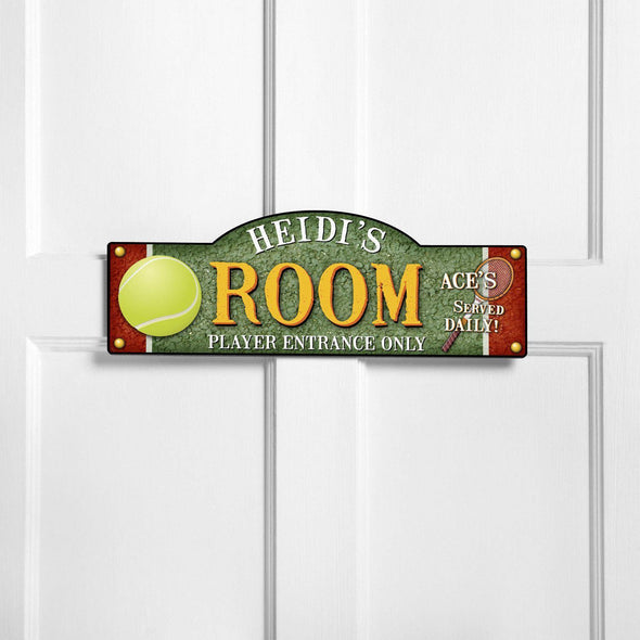 Personalized Kid's Door Signs - Room Sign - Sports Themed Signs - Tennis - JDS