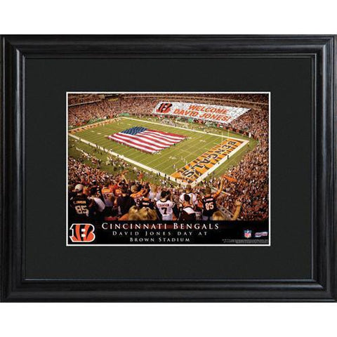 Personalized NFL Stadium Sign w/Matted Frame - Bengals -  - Professional Sports Gifts - AGiftPersonalized