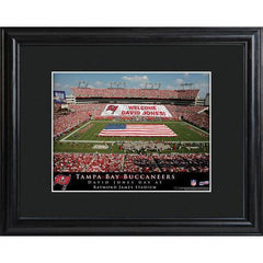 Personalized NFL Stadium Sign w/Matted Frame - Buccaneers