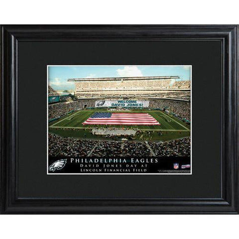 Personalized NFL Stadium Sign w/Matted Frame - Eagles -  - Professional Sports Gifts - AGiftPersonalized