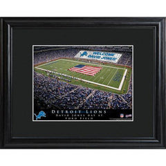 Personalized NFL Stadium Sign w/Matted Frame - Lions -  - Professional Sports Gifts - AGiftPersonalized