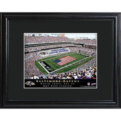 Personalized NFL Stadium Sign w/Matted Frame - Ravens -