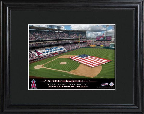 Personalized MLB Stadium Sign w/Matted Frame - Angels -  - Professional Sports Gifts - AGiftPersonalized
