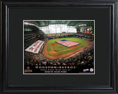 Personalized MLB Stadium Sign w/Matted Frame - Astros -