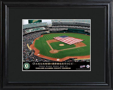 Personalized MLB Stadium Sign w/Matted Frame - Athletics -  - JDS
