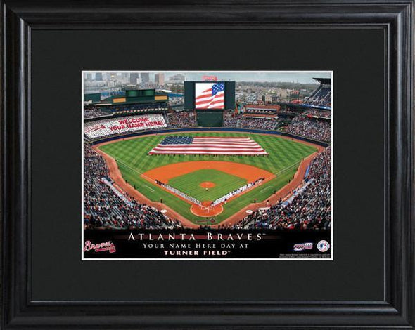 Personalized MLB Stadium Sign w/Matted Frame - Braves -  - JDS