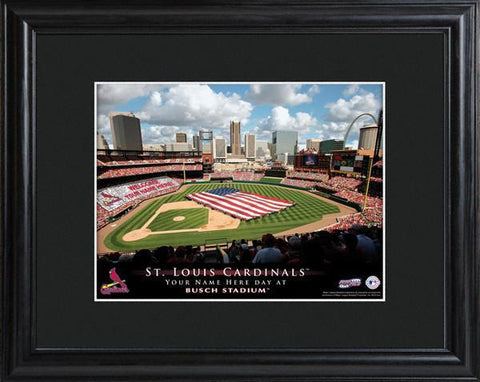 Personalized MLB Stadium Sign w/Matted Frame - Cardinals -