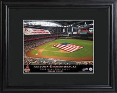 Personalized MLB Stadium Sign w/Matted Frame- Diamondbacks -  - Professional Sports Gifts - AGiftPersonalized