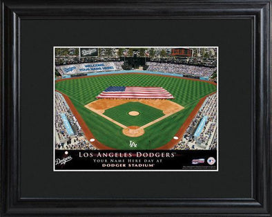 Personalized MLB Stadium Sign w/Matted Frame - Dodgers -  - JDS