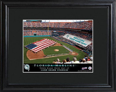 Personalized MLB Stadium Sign w/Matted Frame - Marlins -  - JDS