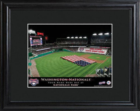 Personalized MLB Stadium Sign w/Matted Frame - Nationals -