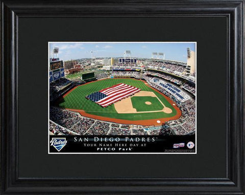 Personalized MLB Stadium Sign w/Matted Frame - Padres -  - Professional Sports Gifts - AGiftPersonalized