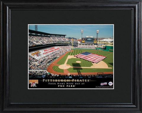 Personalized MLB Stadium Sign  w/Matted Frame - Pirates -  - Professional Sports Gifts - AGiftPersonalized
