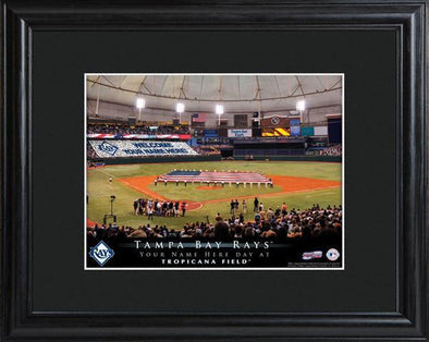Personalized MLB Stadium Sign w/Matted Frame - Rays -  - JDS