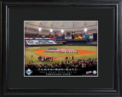 Personalized MLB Stadium Sign w/Matted Frame - Rays -  - Professional Sports Gifts - AGiftPersonalized