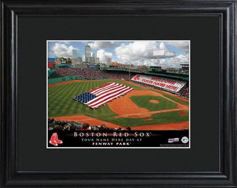Personalized MLB Stadium Sign w/Matted Frame - Red Sox -  - Professional Sports Gifts - AGiftPersonalized