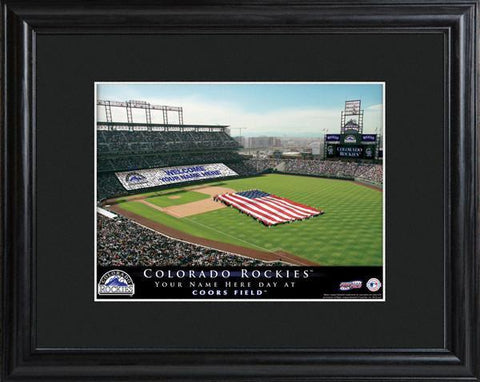Personalized MLB Stadium Sign w/Matted Frame - Rockies -  - Professional Sports Gifts - AGiftPersonalized