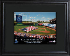Personalized MLB Stadium Sign w/Matted Frame - Royals -