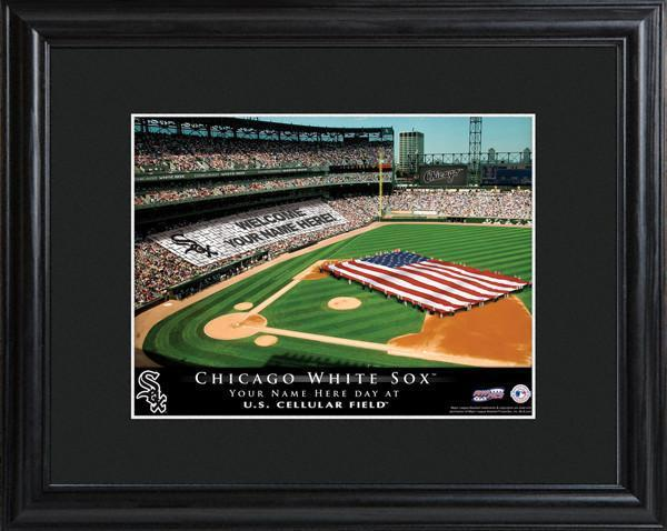 Personalized-MLB-Stadium-Sign-wMatted-Frame-White-Sox