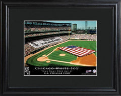 Personalized MLB Stadium Sign w/Matted Frame - White Sox -  - Professional Sports Gifts - AGiftPersonalized