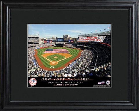 Personalized MLB Stadium Sign w/Matted Frame - Yankees -