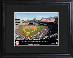 Personalized MLB Stadium Sign w/Matted Frame - Yankees