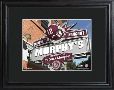 Personalized College Hangout Sign w/Matted Frame - Alabama - JDS