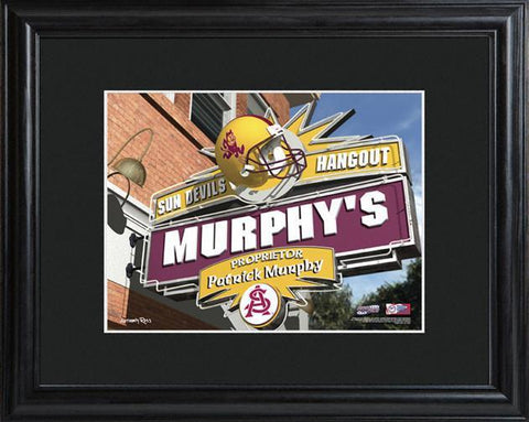 Personalized College Hangout Sign w/Matted Frame - ArizonaState - Personalized Wall Art - AGiftPersonalized