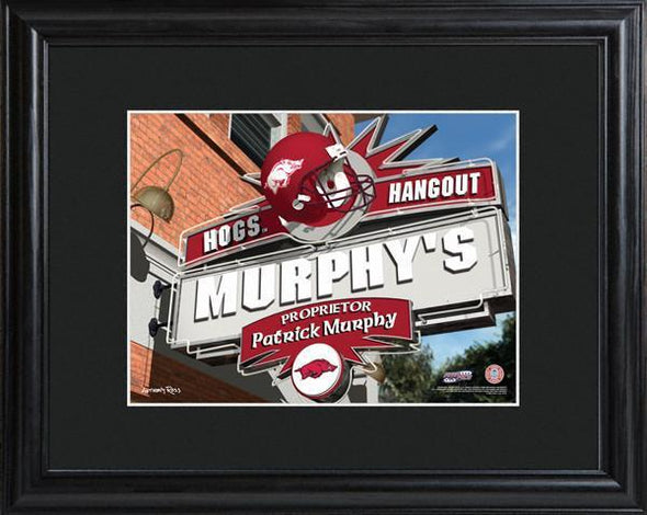 Personalized College Hangout Sign w/Matted Frame - Arkansas - JDS