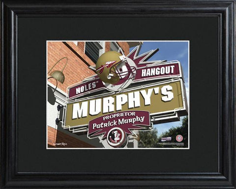 Personalized College Hangout Sign w/Matted Frame - FloridaState - Personalized Wall Art - AGiftPersonalized