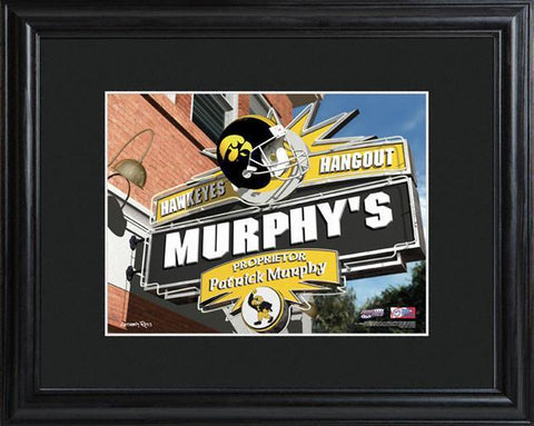 Personalized College Hangout Sign w/Matted Frame - Iowa - Personalized Wall Art - AGiftPersonalized