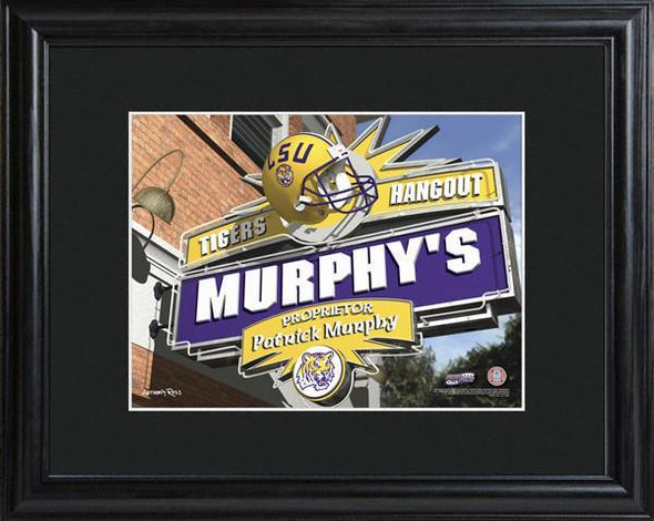 Personalized College Hangout Sign w/Matted Frame - LSU - JDS