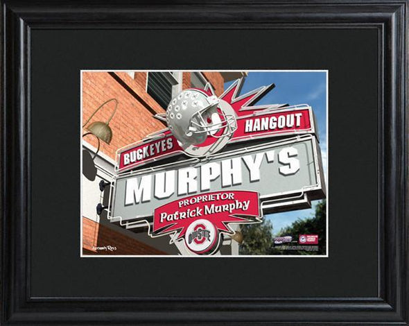 Personalized College Hangout Sign w/Matted Frame - OhioState - JDS