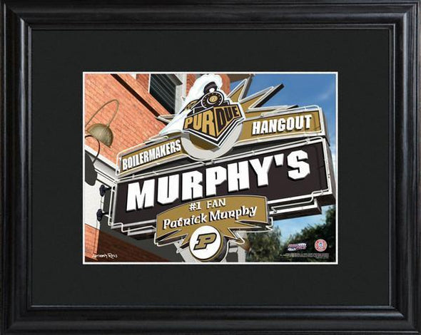 Personalized College Hangout Sign w/Matted Frame - Purdue - JDS