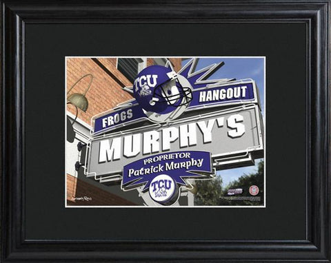 Personalized College Hangout Sign w/Matted Frame - TCU - Personalized Wall Art - AGiftPersonalized