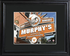 Personalized College Hangout Sign w/Matted Frame - Texas - Personalized Wall Art - AGiftPersonalized