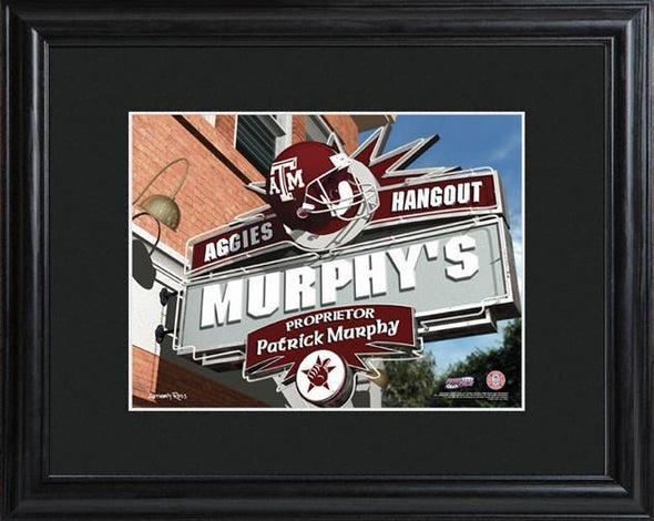 Personalized College Hangout Sign w/Matted Frame - TexasA&M - JDS