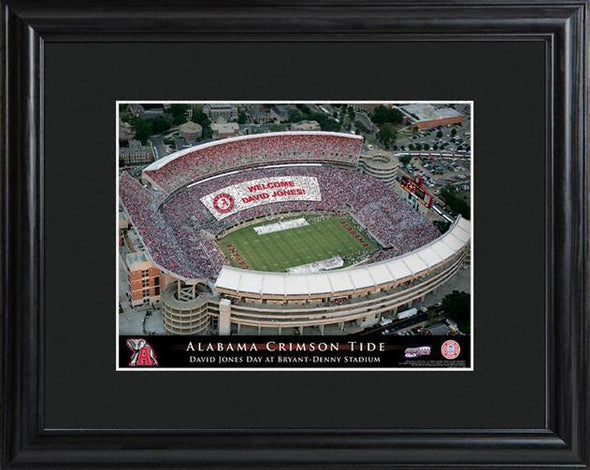 Personalized College Stadium Sign w/Matted Frame - Alabama - JDS