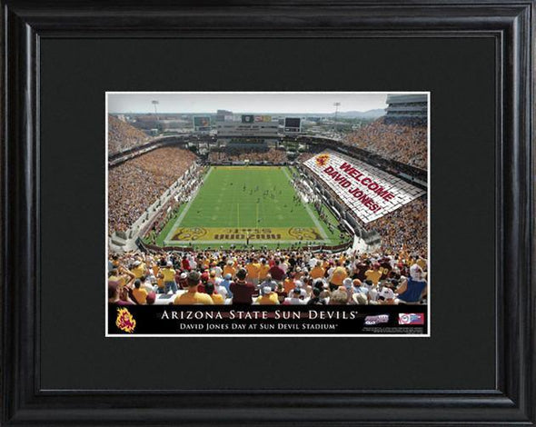 Personalized College Stadium Sign w/Matted Frame - Arizona - JDS