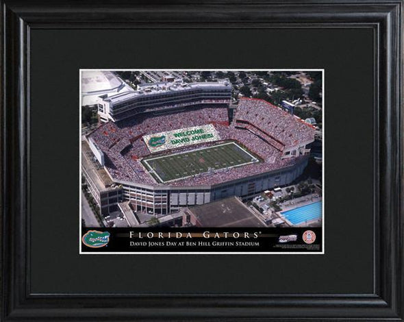 Personalized College Stadium Sign w/Matted Frame - Florida - JDS