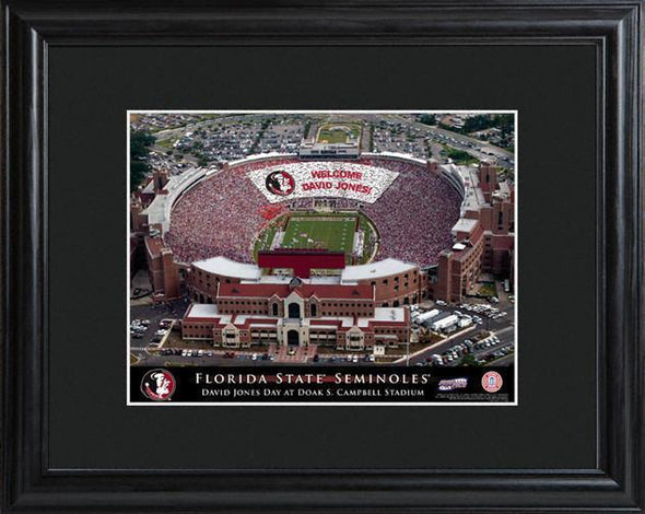 Personalized College Stadium Sign w/Matted Frame - FloridaST - JDS
