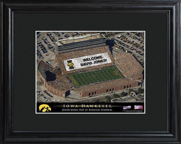Personalized College Stadium Sign w/Matted Frame - Iowa - JDS