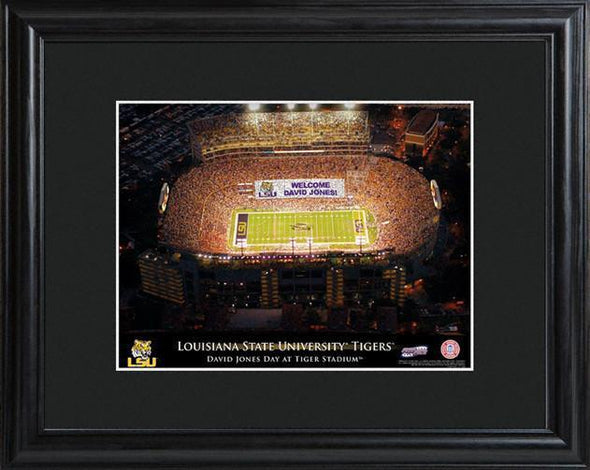 Personalized College Stadium Sign w/Matted Frame - LSU - JDS
